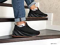 Adidas Sharks зимние кроссовки мужские черные с оранжевым Вьетнам
