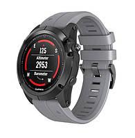 Силиконовый ремешок Primo для часов Garmin Fenix 5 / 5 Plus / Fenix 6 / 6 Pro - Grey