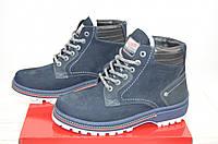 Ботинки мужские зимние KONORS 7047-39-42 синие нубук, фото 1