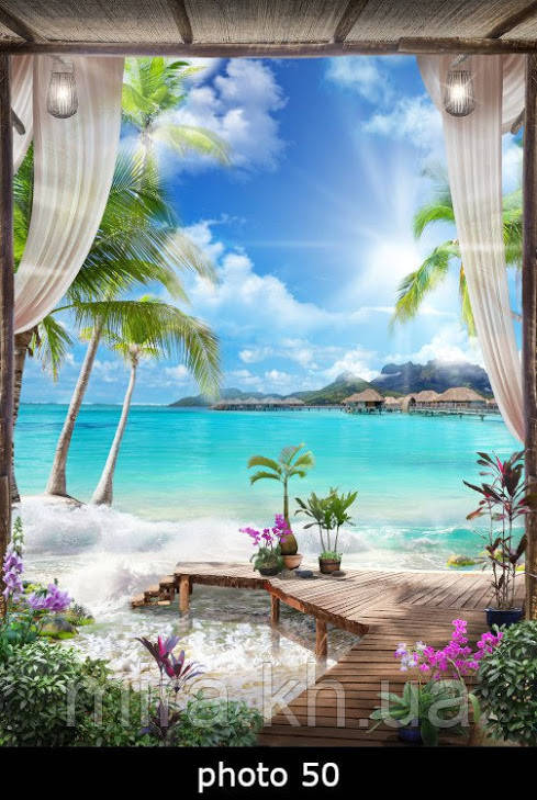 Настенный обогреватель-картина лазурный берег
