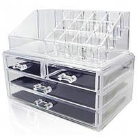 Акриловый органайзер для косметики Cosmetic Storage Box модель 061