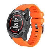 Силиконовый ремешок Primo для часов Garmin Fenix 5 / 5 Plus / Fenix 6 / 6 Pro - Orange
