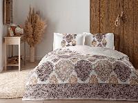 Комплект постельного белья из Сатина двуспальный евро TAC Carina Brown