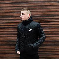 Куртка зимняя теплая мужская качественная черная Transformer