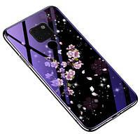Чехол с красивым принтом и глянцевыми торцами Fantasy для Huawei Mate 20 X (выбор дизайна)