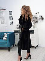 Шуба норковая до колена маленький размер 40 42, фото 1
