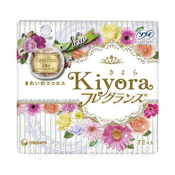 Ежедневные гигиенические прокладки Sofy Kiyora Happy Floral, 72 шт