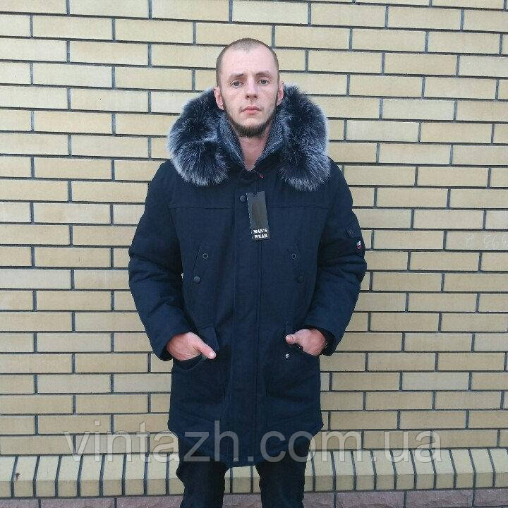 Мужская зимняя куртка теплая ровная в Украине