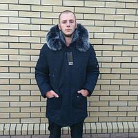 Мужская зимняя куртка теплая ровная в Украине, фото 1