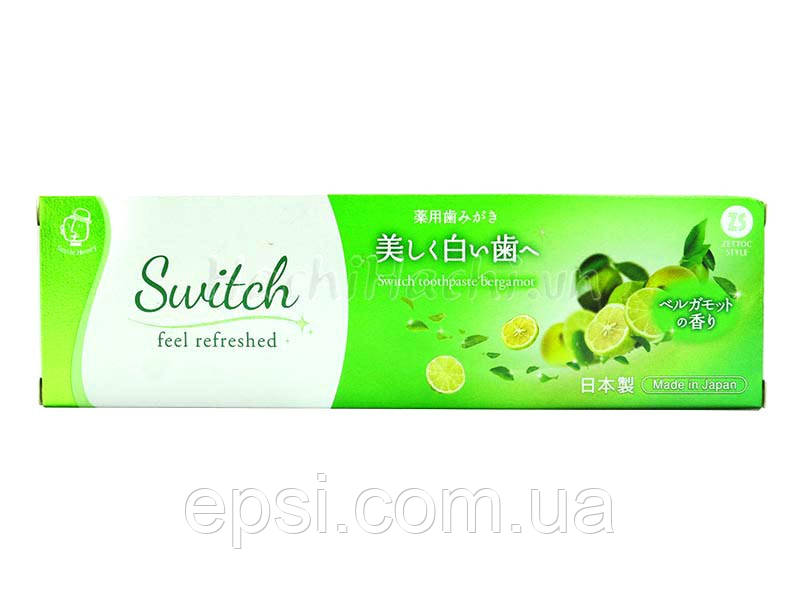 Зубная паста с экстрактом бергамота Zettoc Switch Toothpaste Bergamot, 100 мл