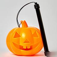 🔥 Хэллоуин! Большая Тыква с ручкой светящаяся и смеющаяся