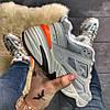"Мужские зимние кроссовки Nike M2K Tekno ""Gray Orange"", фото 5"