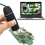 Электронный микроскоп USB 1600 крат на подставке, фото 3