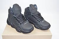 Ботинки мужские спортивные унисекс SAV CROS 318-3 чёрные кожа, фото 1