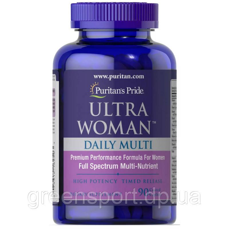 Мультивитамины для женщин Puritan's Pride Ultra Woman Daily Multi (90 таблеток)