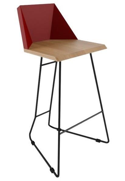 Дизайнерский барный стул Origami красный TM Esense