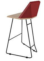Дизайнерский барный стул Origami красный TM Esense, фото 3