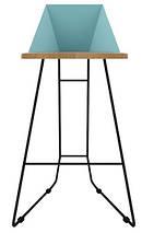 Дизайнерский барный стул Origami голубой TM Esense, фото 3