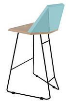 Дизайнерский барный стул Origami голубой TM Esense, фото 2