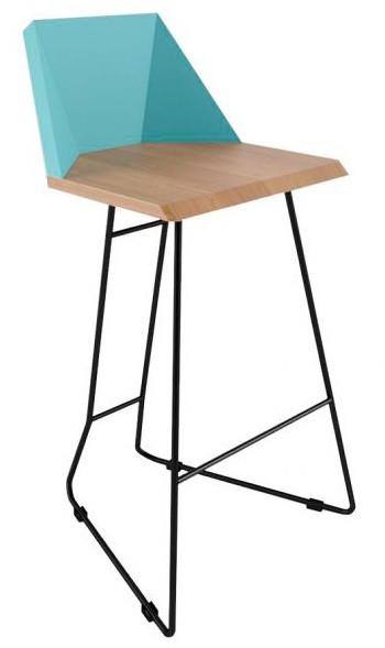 Дизайнерский барный стул Origami голубой TM Esense