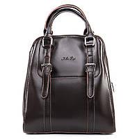Кожаный женский рюкзак-трансформер  ALEX RAI шоколадного цвета