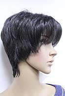 Искусственный парик короткая стрижка с челкой натуральный черный