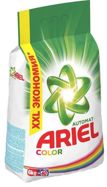 Порошок для автоматической стирки ARIEL для цветного белья (6 кг)