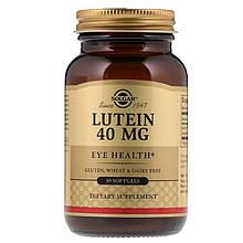 """Лютеїн для здоров'я очей, SOLGAR """"Lutein"""" 40 мг (30 гельових капсул)"""