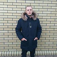 Мужская зимняя куртка теплая ровная в Украине от производителя