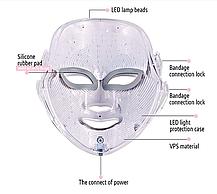 Cветодиодная  LED-маска для лица, фото 2