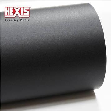 Hexis HXR150BGR Black Grained - текстурированная, черная матовая пленка 1.23 м