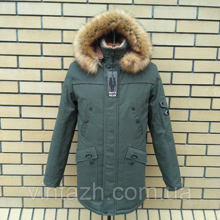 Зимняя мужская куртка теплая ровная в Украине от производителя