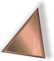 Зеркальная плитка НСК 100см х 100см с фацетом 1см треугольник цветная бронза