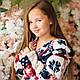 Махровый халат Eirena Nadine (34-556 Норвежский узор) рост 134 с капюшоном, фото 5