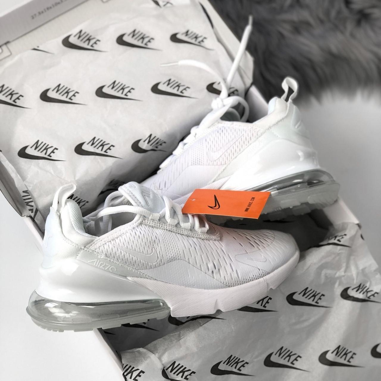 Мужские/женские кроссовки в стиле Nike Air Max 270 All White (40 размер)