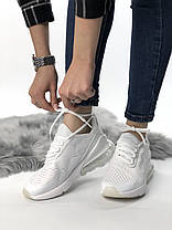 Мужские/женские кроссовки в стиле Nike Air Max 270 All White (40 размер), фото 2