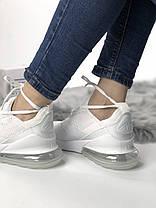 Мужские/женские кроссовки в стиле Nike Air Max 270 All White (40 размер), фото 3