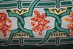"""Павлопосадский платок шелковый  шейный """"Экзотический цветок"""" рис. 1031-9 (крепдешин) размер 52х52 см, фото 4"""