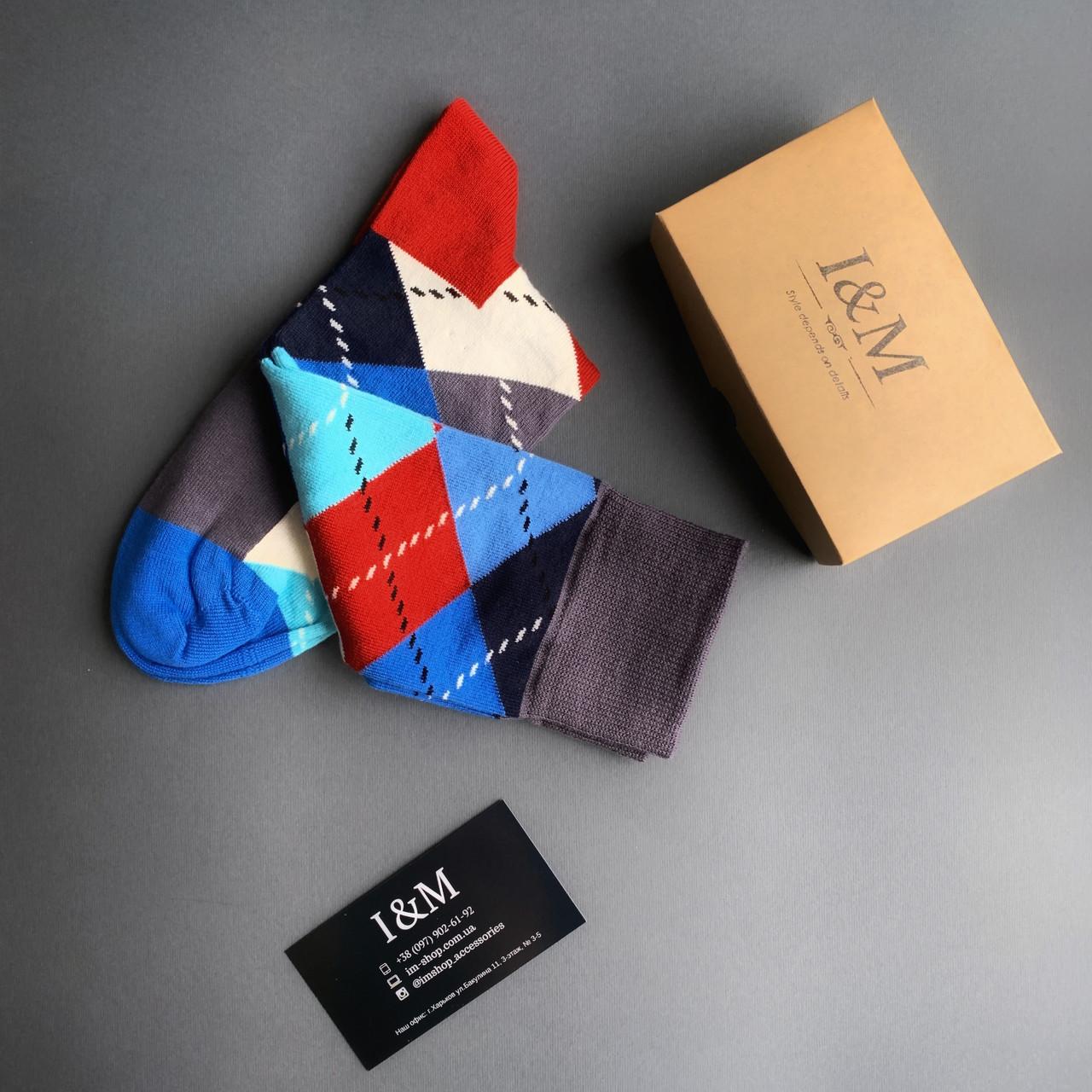 Носки  I&M Craft в цветные ромбы (070275)