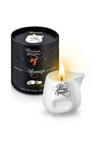 Массажная свеча Plaisirs Secrets Coconut (80 мл), фото 2