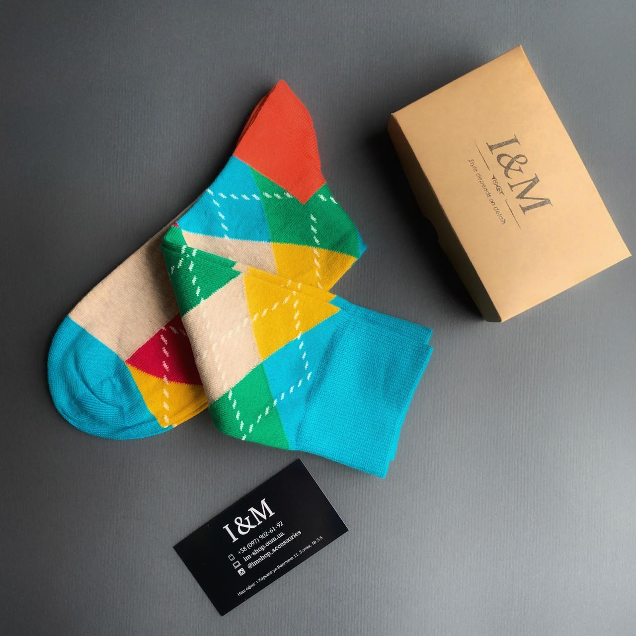 Носки  I&M Craft в цветные ромбы (070277)