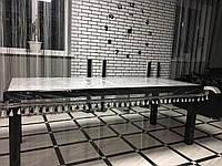 Скатерть силиконовая с бахрамой, защита для стола. Прозрачная ПВХ пленка.