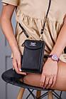 Чорне портмоне на орендованому ремінці, фото 4