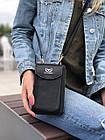 Чорне портмоне на орендованому ремінці, фото 6