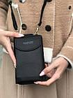 Чорне портмоне на орендованому ремінці, фото 9