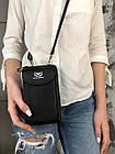 Чорне портмоне на орендованому ремінці, фото 10