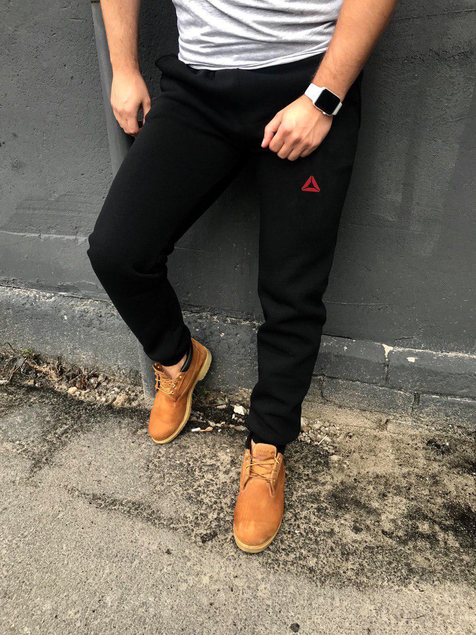 Мужские черные штаны с флисом Reebok Crossfit (копия)