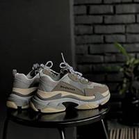 Женские кроссовки Balenciaga Triple S Grey (36, 37, 40 размеры)