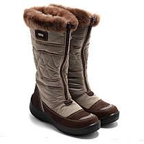 Зимние коричневые мембранные сапожки Kapika, для девочки, размер 30 - 37,5