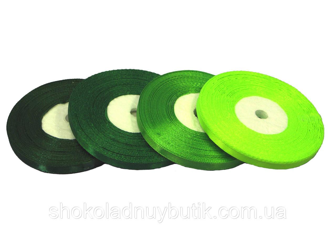 Лента атласная 6мм *№ 56 Темно зеленая*